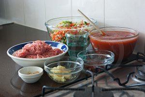 Spaghetti ingredienten