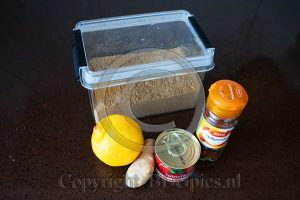 Ceylonese curry ingrediënten marinade