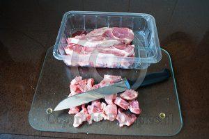 Varkensvlees snijden