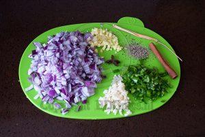 Ceylonese curry ingrediënten