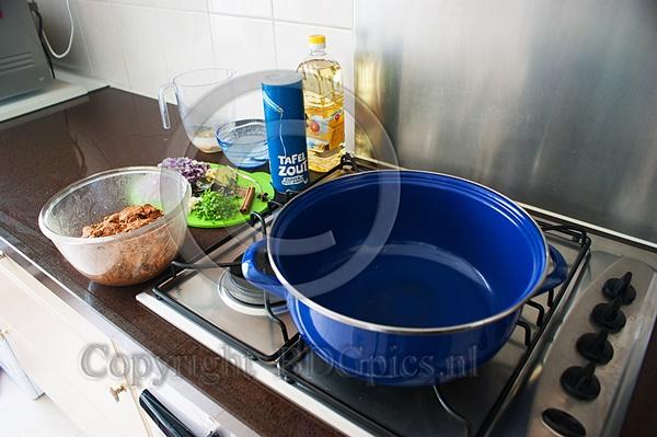 Ceylonese curry klaar om te maken