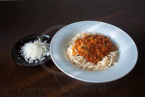 Spaghetti met kaas