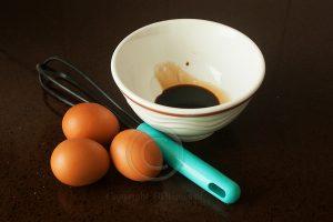 Eieren; sojasaus; garde