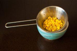 Mais; uitlekken mais; mais uitlekken; mais in vergiet