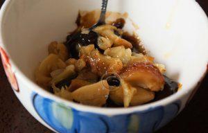 Appelstroop met knoflook; gepofte knoflook met appel-perenstroop; Jamie Oliver
